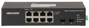 SWITCH PoE DS-3T0510HP-E/HS 8-PORTOWY + 2 x SFP Hikvision